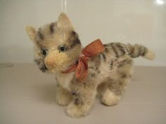 In my #ETSY Shop: #Steiff Vintage #Kitty #Cat – Glass Eyes, Excelsior Stuffed, 5 Way Jointed & Velvet Muzzle