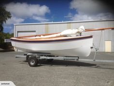 """Wooden Sailing Dinghy """"Houdini"""" NEW for sale on Trade Me, New Zealand's auction and classifieds website Sailing Dinghy, Wooden Boats, Wood Boats"""