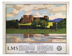 Print of Rhuddlan Castle, LMS poster, 1929 Fine Art Prints, Framed Prints, Canvas Prints, Famous Marines, Railway Posters, Posters Uk, National Railway Museum, Vintage Travel Posters, Art Studies