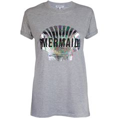 Adolescent Clothing Undercover Mermaid T-Shirt ($17) ❤ liked on Polyvore featuring tops, t-shirts, print tee, pattern tops, pattern t shirt, print tops and holographic top