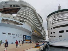 Allure of the Seas & Mariner of the Seas in Cozumel #AllureoftheSeas