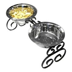 QT Dog, Wrought Iron Diner with Stainless Steel Mini Copper, 4 inchH, 1 pt, Gold
