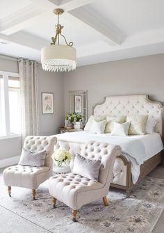 In this article, we are giving you some wonderful master bedroom decor ideas that you will definitely find useful. So take a fast look at these eight Master Bedroom Decor Fresh Master Bedroom Elegant and Modern Master Bedroom Design Ideas 2018 Small Master Bedroom, Master Bedroom Design, Dream Bedroom, Bedroom Designs, Master Suite, Master Room, Master Bed Room Ideas, Bed Designs, White Bedroom Curtains