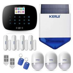 Dependable full home Wireless security alarms with smartphone App alerts. The burglar alarm systems are easier than cabled to set-up reducing your costs. Wireless Alarm System, Wireless Home Security Systems, Security Camera System, Security Surveillance, Surveillance System, Security Alarm, Smart Home Alarm System, Alarm Systems For Home, Cctv Kits
