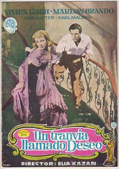 A STREETCAR NAMED DESIRE MARLON BRANDO VIVIEN LEIGH ELIA KAZAN ORIGINAL SPANISH PRESSBOOK