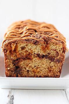 Butterscotch Cinnamon Swirl Quick Bread