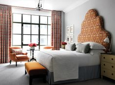 A bedroom at New York's The Whitby Hotel, the latest property from Firmdale Hotels