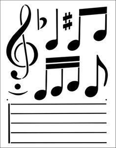 Music stencil from The Stencil Library BUDGET STENCILS range. Buy stencils online. Stencil code TP23.