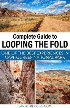 How to Loop the Fold in Capitol Reef National Park. This backcountry adventure is amazing. Hike through slot canyons, drive on quiet, remote roads, drive the Burr Trail Switchbacks, and see the waterpocket fold. Here's how to do it. #capitolreef #loopthefold #nationalpark