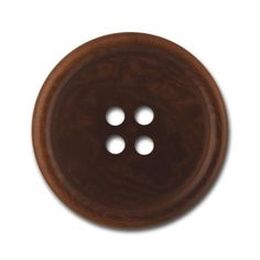 Classic Brown Four-Hole Corozo Button (Made in Italy)