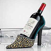 Stiletto Wine Bottle Holder - Wine bottle holders let you display your wine with a personal touch! Add some fun to the table with a wine bottle holder from Wine Enthusiast.  [Kitchen Gadget]