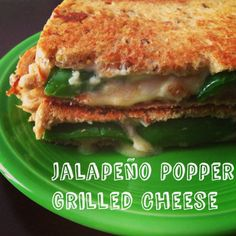 Vegan Jalapeño Popper Grilled Cheese Sandwich #yum #vegan #recipe
