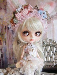 ☆ * Custom Blythe bunny rabbit pink ballerina * ☆  Find her here:    #blythe #blythedolls #customblythe #kawaii #cute #rinkya #japan #collectibles #neoblythe