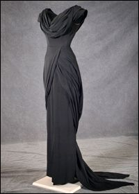 Silk evening gown from Adam's Rib, 1949. By Walter Plunkett, Hollywood costume designer - he was chief designer for RKO Pictures from 1926-1939.