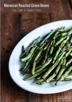 Give boring green beans another chance with these truly delicious Moroccan Spiced Roasted Green Beans! Keto, Atkins, Paleo and Whole 30 approved!