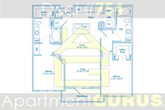 Beds - 2  Baths - 2  Sq. Ft. - 1122  Starting Price - $1550
