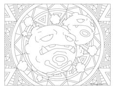 Free printable Pokemon coloring page-Weezing. Visit our page for more coloring! Coloring fun for all ages, adults and children. Pokemon Coloring Sheets, Cartoon Coloring Pages, Mandala Coloring Pages, Coloring Book Pages, Printable Coloring Pages, Colorful Drawings, Colorful Pictures, Pokemon Cross Stitch, Pokemon Party