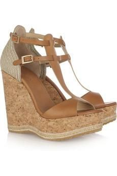 JImmy Choo Preya Leather Wedge #shoes