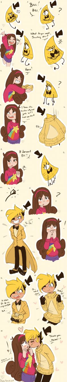 MaBill Sweaters by Drawing-Heart || w-what I th-thiS SHOULDN'T BE A SHIPPABLE THING WHAT ARE YOU DOING GAH IT'S CUTE