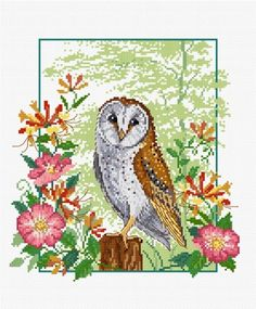 LJT032 Barn Owl | Lesley Teare Needlework and Cross Stitch Chart Designs