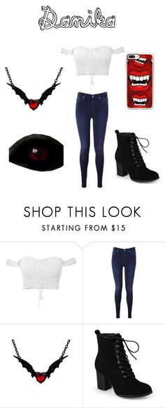 """""""Danika.....The Vampire"""" by sstoltzfus ❤ liked on Polyvore featuring 7 For All Mankind, Journee Collection and Casetify"""