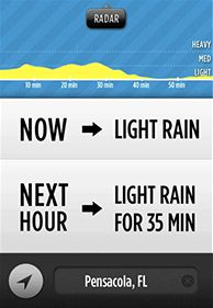 Dark Sky just released another sneak peak of their upcoming, kickstarter-backed, super-local weather prediction app.