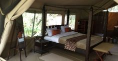 The camp comprises of 19 superior tents (Double/Twin) ,3 deluxe tents and 1 two bedroom en-suite log cabin with private kitchen & dining facilities . All these are well positioned overlooking the Mara River with great game views from the luxury of your own patio.