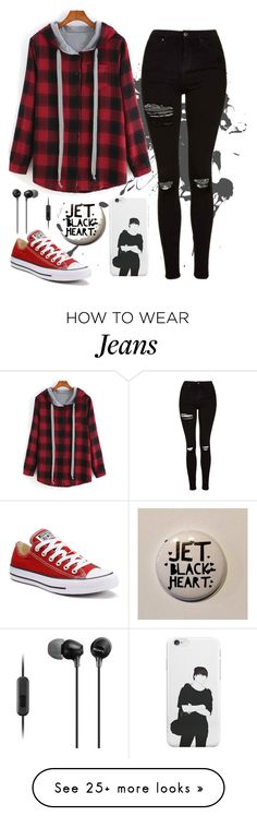 """""""It's not a phase mom"""" by irdina-n on Polyvore featuring Topshop, Converse and Sony"""