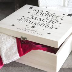 Personalised Believe In The Magic Of Christmas Eve Box Christmas Eve Box For Kids, Xmas Eve Boxes, Open On Christmas, Christmas Gift Box, Magical Christmas, A Christmas Story, Christmas Design, Beautiful Christmas, Christmas Crafts