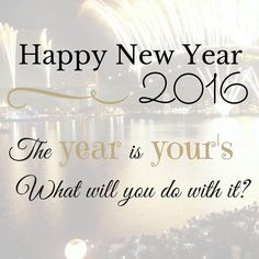 Happy New Year to all our followers! What are your New Years resolutions and goals for 2016? Image sourced from pinterest
