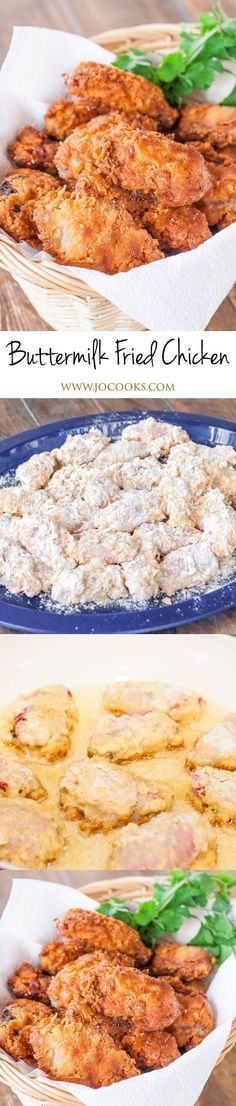 This Buttermilk Fried Chicken is super juicy, tender and so delicious! Perfect f… This Buttermilk Fried Chicken is super juicy, tender and so delicious! Perfect for lunch or dinner and served with a side salad. Yummy Recipes, Dinner Recipes, Cooking Recipes, Yummy Food, Recipies, Dinner Ideas, Turkey Recipes, Potato Recipes, Pasta Recipes