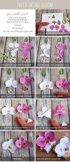 DIY Paper Orchid Tutorial @ DIY Home Cuteness