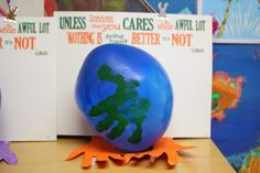 Dr. Seuss Lorax Theme for Earth Day. Great follow up to reinforce story theme, activity great for color recognition, and fine motor control.