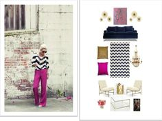 How to get inspiration for home decor from a favorite outfit