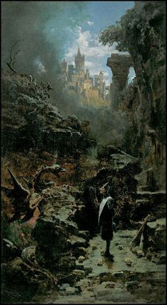 Carl Spitzweg — fantasy painting — circa 1880?