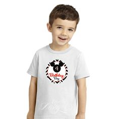Mickey Mouse - Iron-on Tshirt Transfer (Birthday Party Shirt) / Children Party Ideas / Children Party Themes / Kid Party Ideas / DIY Party Ideas / Birthday Shirt / Birthday Shirt Ideas / Birthday Shirt DIY / Tshirt DIY / Tshirt Transfer DIY Ideas / Birthday Shirt For Boys