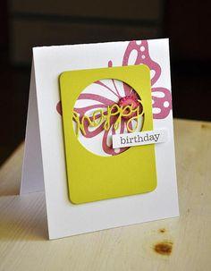 Happy Birthday Window Card