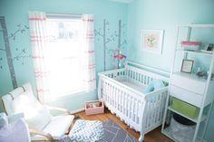 Project Nursery - Aqua and Pink Nursery