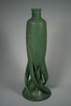 Teco Pottery Vase. Designed by Fritz Albert. Perfection!!!