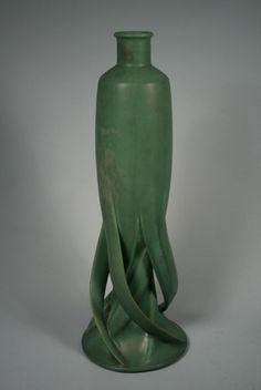 Teco Pottery Vase. Designed by Fritz Albert. Perfection!!!