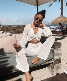 Boat Party Outfit, Beach Party Outfits, White Outfit Party, Outfit Beach, All White Outfit, Beach Attire, Bikini Outfits, Ibiza Outfits, Cancun Outfits