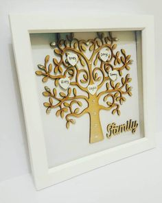 This item is unavailable Family Tree Picture Frames, Family Tree With Pictures, Family Tree Photo, Family Trees, Personalised Family Tree, Personalised Frames, New Home Gifts, Gifts For Mum, Name Wall Art