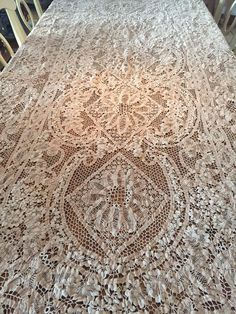 Venetian Lace Tablecloth | The Makings Of A Dream Abode | Pinterest |  Venetian, Needle Points And Point Lace