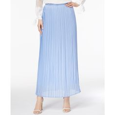 Cupio by Cable & Gauge Pleated Maxi Skirt ($40) ❤ liked on Polyvore featuring skirts, perfect chambray, pleated maxi skirt, accordion pleated maxi skirt, floor length skirt, long skirts and long accordion-pleat skirt