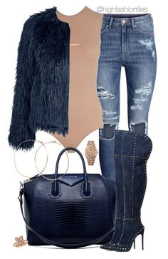 """Untitled #2574"" by highfashionfiles ❤ liked on Polyvore featuring H&M, Maison Margiela, Monique Péan, Samsøe & Samsøe, Givenchy, Audemars Piguet, Blue Nile and Jennifer Creel"