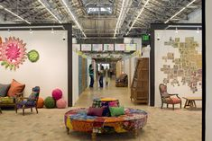 Free People / Urban Outfitters / Archeologie Headquarters, Philadelphia, PA - would so love a working environment like this!