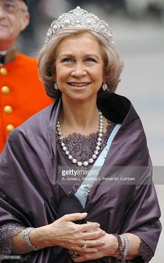 Queen Sofia Of Spain Attends The Wedding Of Crown Prince Frederik