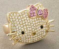 hello kitty pave ring