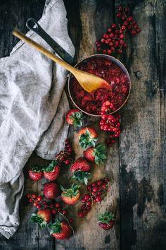 Young Coconut Dark Chocolate Slushie With Smashed Berries (Vegan)