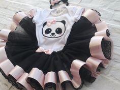 Kit tutu Panda Rosa no Elo7 | Baby Encantos 2 (D7D02C)